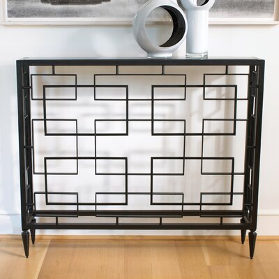 Denis Block Console Table Finish: Black