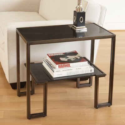 One-Up End Table Color: Bronze