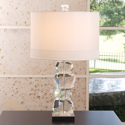 "Global Views Stacked Gemstone 30.25"" H Table Lamp with Drum Shade 8.82166"