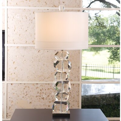 "Global Views Stacked Gemstone 37.5"" H Table Lamp with Drum Shade 8.82165"