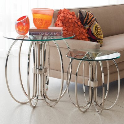 Large Oval Ring End Table