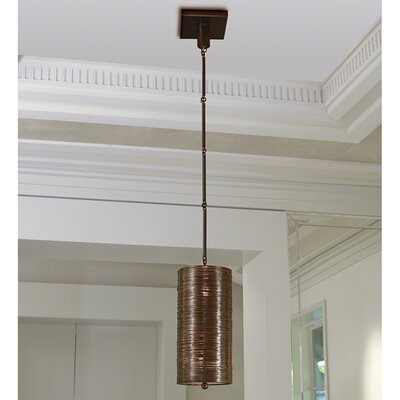 Coil Single Mini Pendant Finish: Bronze
