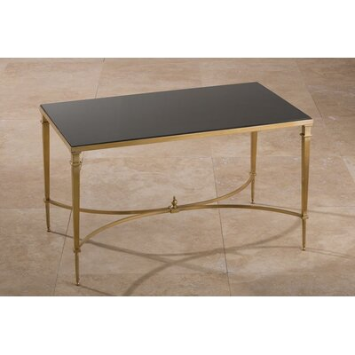 Enjoy A Brink In Style Coffee Table Color: Brass with Black Top