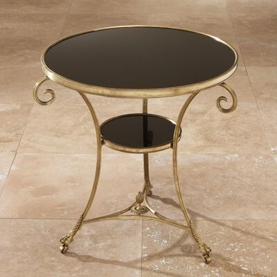Draw Attention End Table Finish: Brass & Black Granite