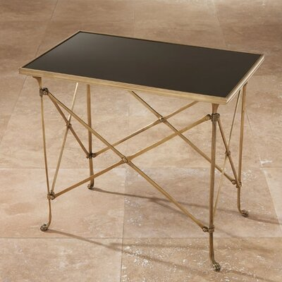 End Table Color: Brass, Black Granite Top