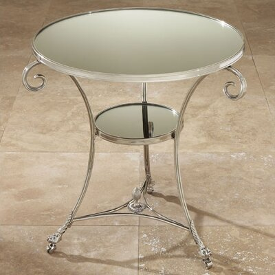 Draw Attention End Table Finish: Nickel & Mirror