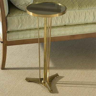 Cheap Global Views French Modern Side Table with Mirror Top in Antique Brass (GXV1092)