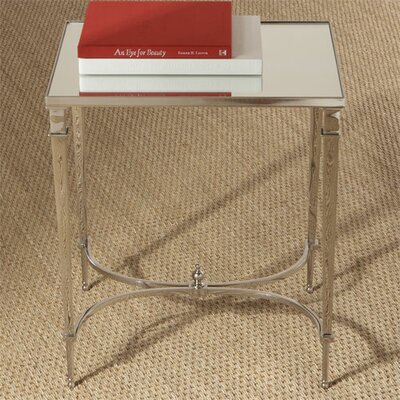 Cheap Global Views Rectangular French Square Leg Table with Mirror Top in Nickel (GXV1099)