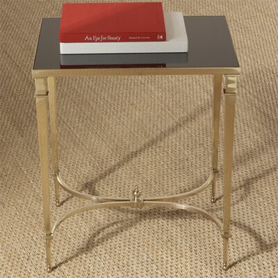 French End Table Finish: Brass