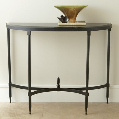 Fluted Iron Console Table with Granite Top
