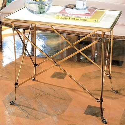End Table Color: Brass, White Marble Top