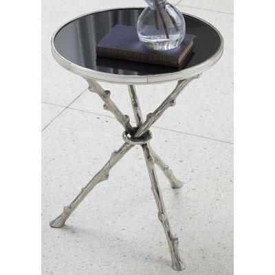 Cheap Global Views Twig Table with Black Granite Top in Nickel (GXV1220)