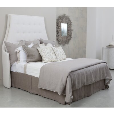Wayne Avada Upholstered Wingback Headboard Size: Queen, Color: Ivory