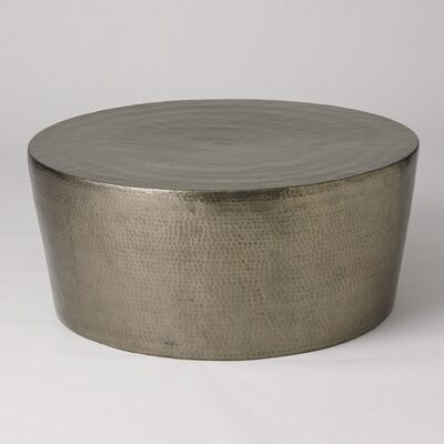 Izmir Hammered Cocktail Table Finish: Antique Nickel