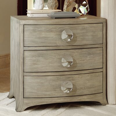 Bow Front 3 Drawer Chest Color: Gray