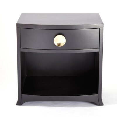 Bow Front 1 Drawer Chest Color: Ebony