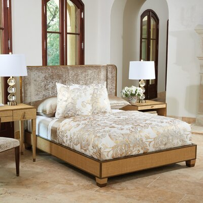 DOro Upholstered Sleigh Bed Size: King