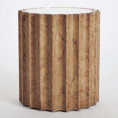 Reflective Column End Table