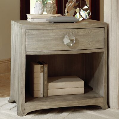 Bow Front 1 Drawer Chest Color: Gray