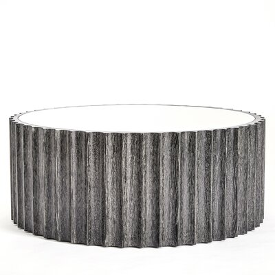 Reflective Column Coffee Table Finish: Black Cerused Oak