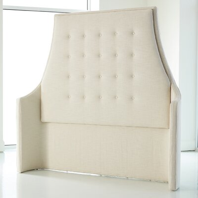 Wayne Avada Upholstered Wingback Headboard Size: King, Finish: Ivory