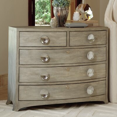 Bow Front 5 Drawer Chest Color: Gray