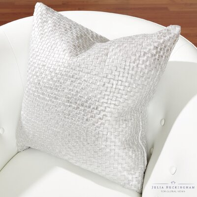 Julia Buckingham Throw Pillow Color: Platinum