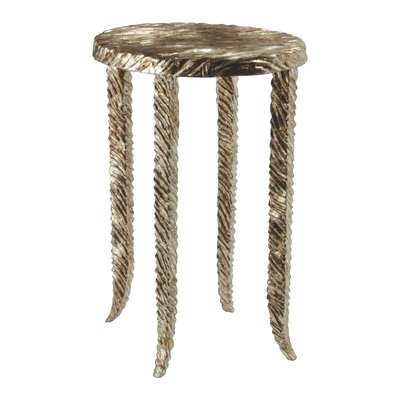 Waves Martini End Table Finish: Silver