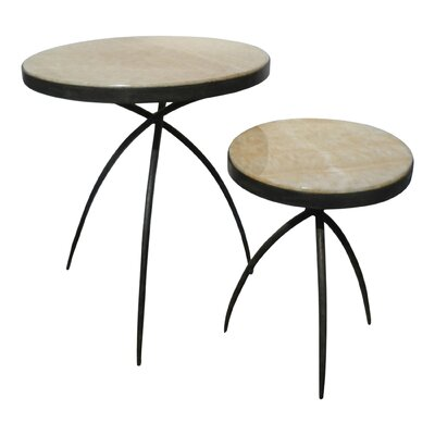 Tripod End Table with Onyx Top