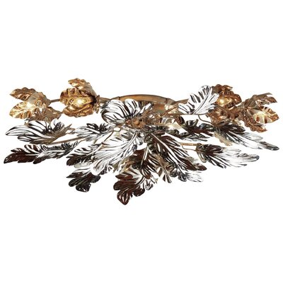 Dancing Leaves Flush Mount Fixture Fixture Finish: Nickel
