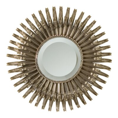 Round Sunburst Accent Mirror with Security Hardware 8.80468-SH