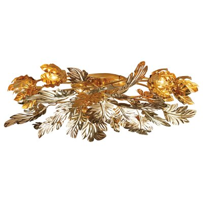 Dancing Leaves Flush Mount Fixture Fixture Finish: Brass