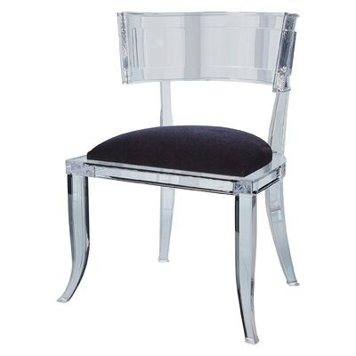 Klismos Acrylic Dining Chair Color: Black