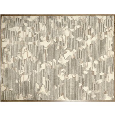 Anemone Gray/Ivory Area Rug Rug Size: Rectangle 6 x 9
