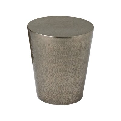 Izmir Hammered End Table Color: Antique Nickel