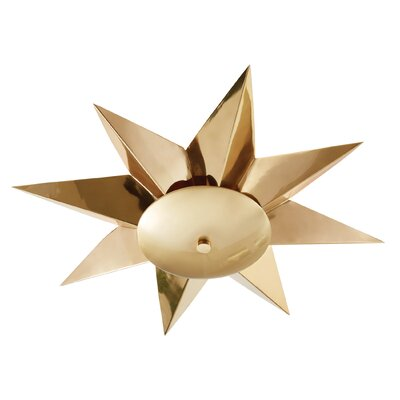 Klismos Flush Mount Fixture Finish: Brass