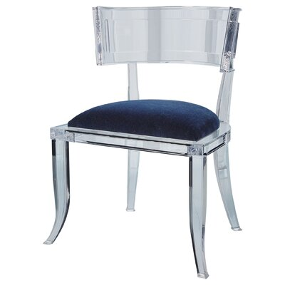 Klismos Acrylic Dining Chair Color: Admiral Blue