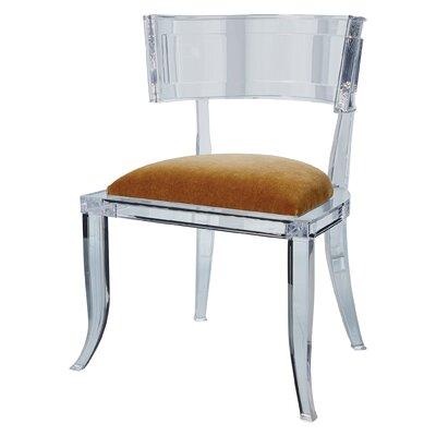 Klismos Acrylic Dining Chair Color: Brown Sugar