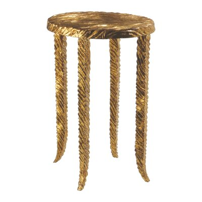 Waves Martini End Table Finish: Gold