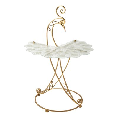 Peacock End Table Base Color: Gold
