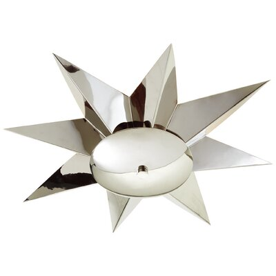 Klismos Flush Mount Fixture Finish: Nickel