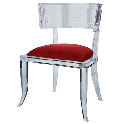 Klismos Acrylic Dining Chair Color: Red Pepper