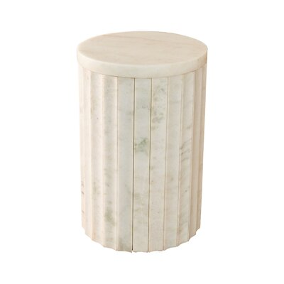 Marble Column End Table