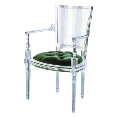 Marilyn Acrylic Dining Chair Color: Emerald Green