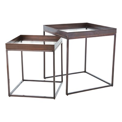 Perfect 2 Piece Nesting Tables Color: Bronze