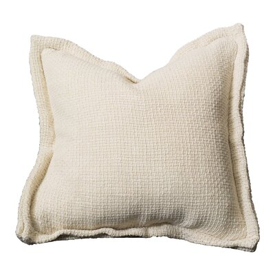 Olmo Throw Pillow Color: Ecru