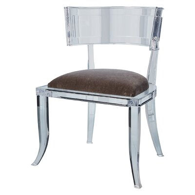 Klismos Acrylic Dining Chair Color: Pewter
