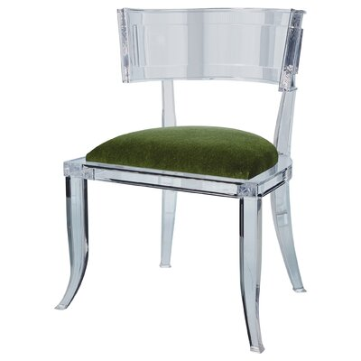 Klismos Acrylic Dining Chair Color: Emerald Green