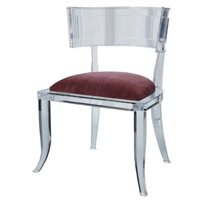 Klismos Acrylic Dining Chair Color: Sultana