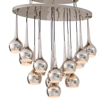 Bottle 15-Light Cluster Pendent